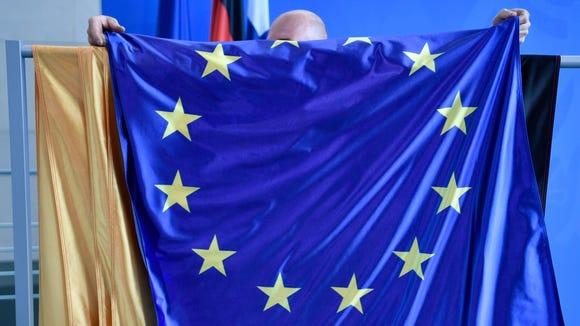 The European Union flag.