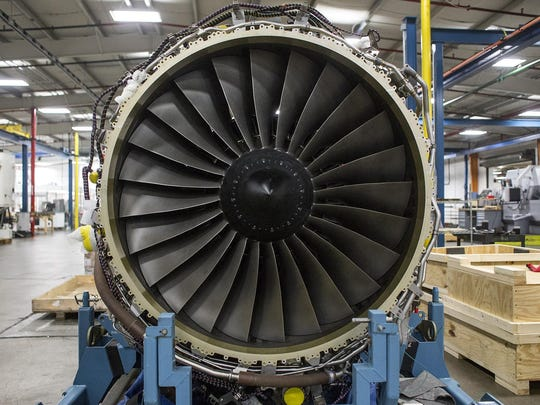 Asheville's GE Aviation plant on Wednesday marked the delivery of its 25,000th engine turbine shroud. Seen here is a view inside the plant from 2016.