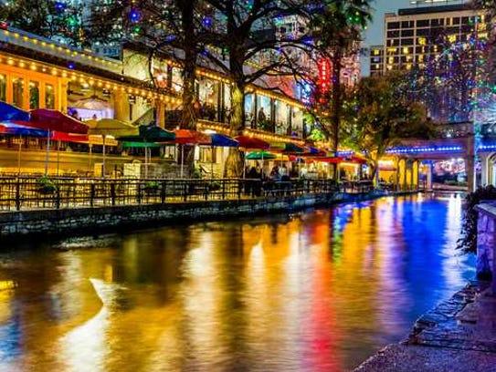 The river walk in San ntonio, TX.