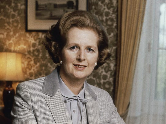 Britain's Prime Minister Margaret Thatcher in 1980.