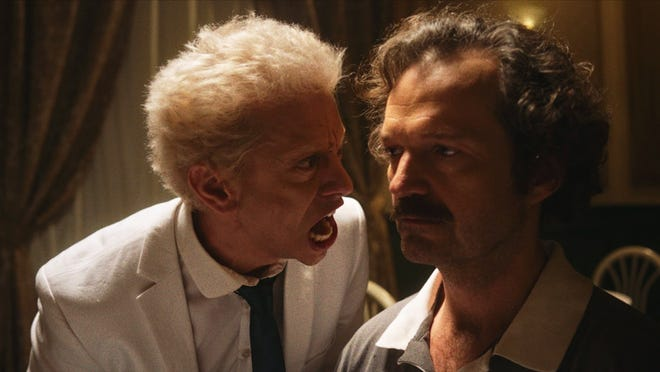 "A still from Maverick Moore's film ""My Dinner with Werner,"" a comedy inspired by the over-the-top, tumultuous relationship between actor Klaus Kinski and director Werner Herzog."