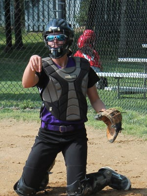 Senior Bailey Miller has added catching duties to her resume with starter Jessica Dmochowski out.