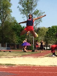 Imani Udoumana finished third in the triple jump and