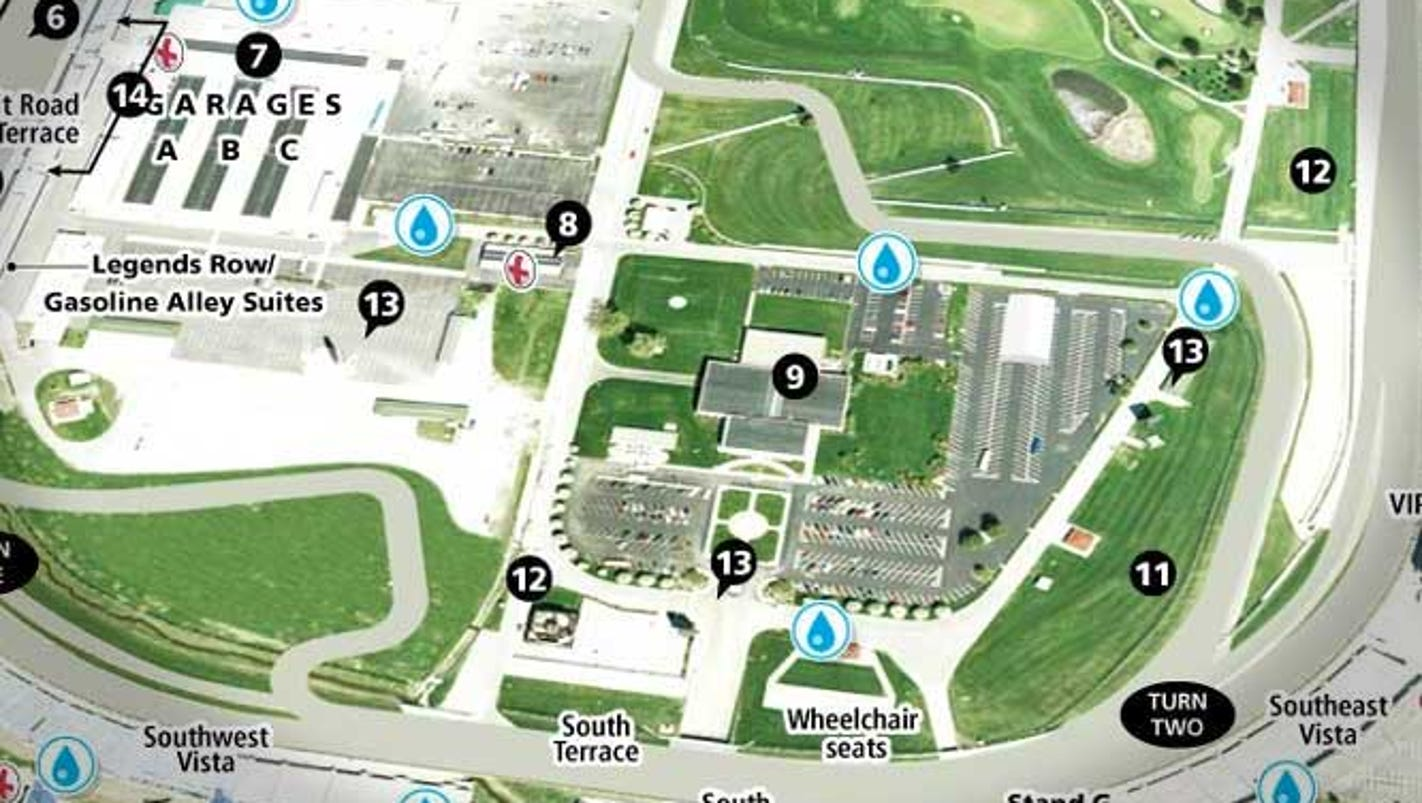 map indianapolis motor speedway -
