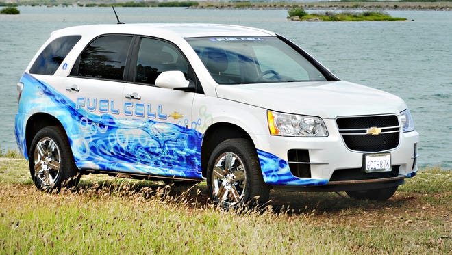 The Chevy Fuel Cell vehicle is a modified Chevrolet Equinox SUV
