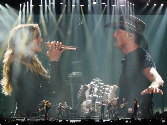 Tim McGraw and Faith Hill performed at the BMO Harris