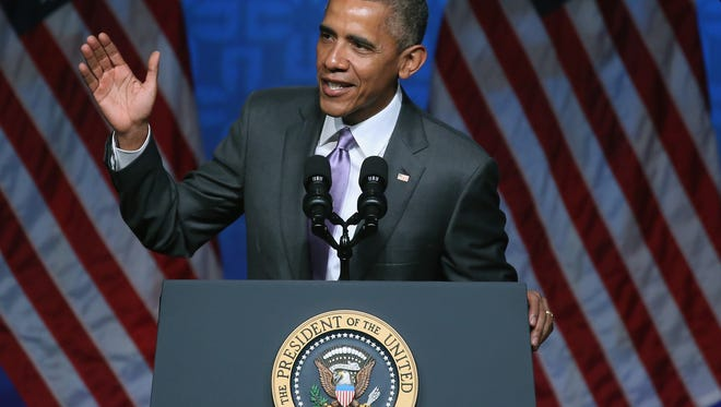 President Obama said his health care law has insured millions, saved lives, and is a success that is here to stay.