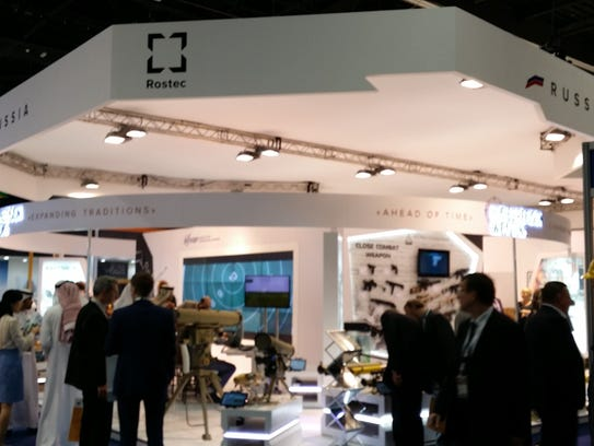 The Russia booth at IDEX.