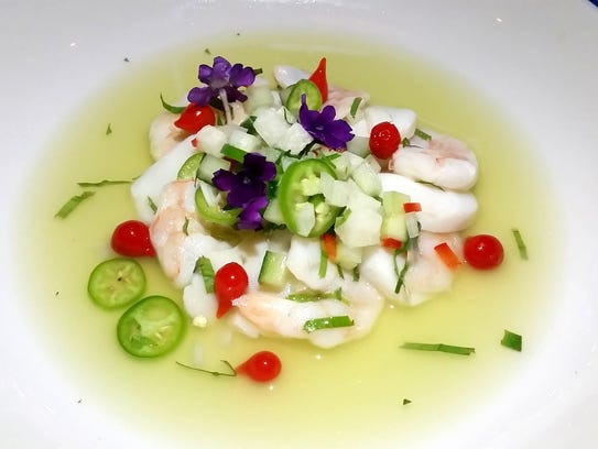 Ceviche from Ox & Stone.