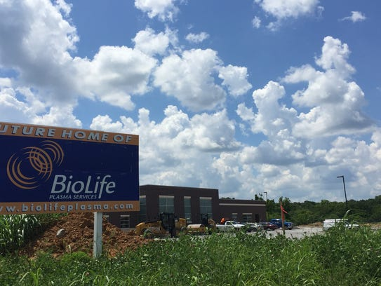 BioLife Plasma Services is scheduled to open in September