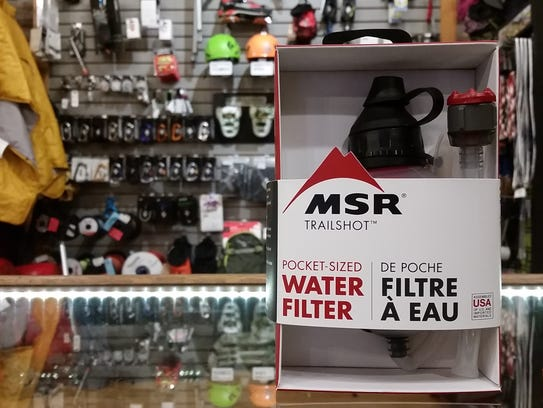 MSR Trail Shot allows a lightweight way to filter water.