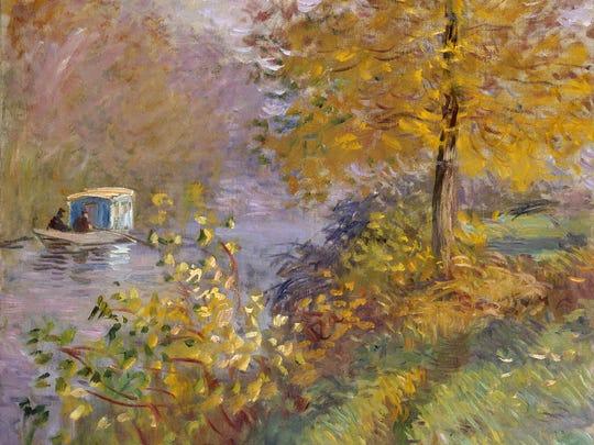 Claude Monet, The Studio Boat, 1876, oil on canvas. Musée d'art et d'histoire, Neuchâtel