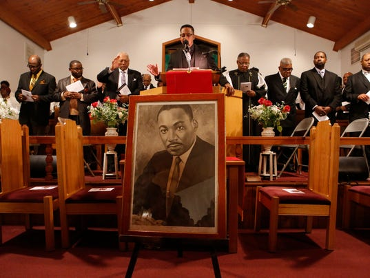 Martin Luther King Jr. service at First Baptist Church