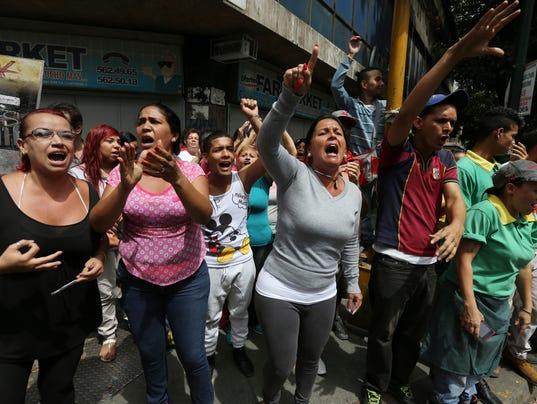 AP VENEZUELA PROTEST I VEN