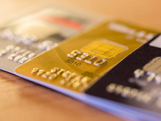 Row of Credit Cards
