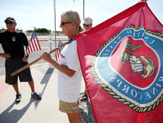 Marine supporters