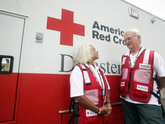 Red Cross volunteers