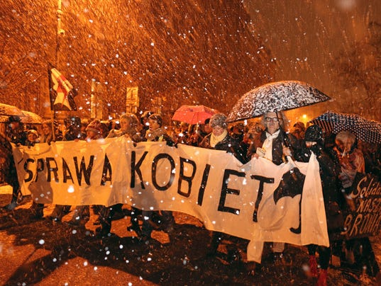 EPA POLAND ABORTION LAW PROTEST POL CITIZENS INITIATIVE & RECALL POL