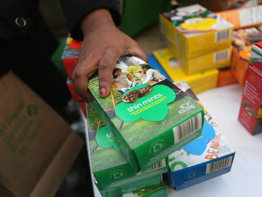 samoas thin mints girl scout cookie sales go digital