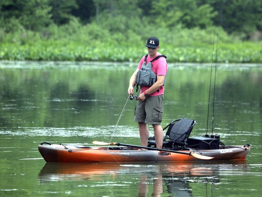 On the water hudson valley angler s club promotes kayak for Gross reservoir fishing