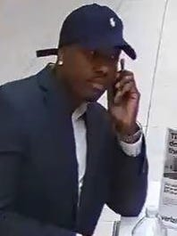 Surveillance camera footage of man who Wayne police say stole an iPhone X from a kiosk at Willowbrook Mall on March 11.