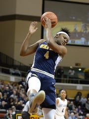 Wayne Memorial's Alanna Micheaux tries to get a handle