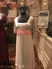 Called the 'sinking dress,' this chiffon gown was worn