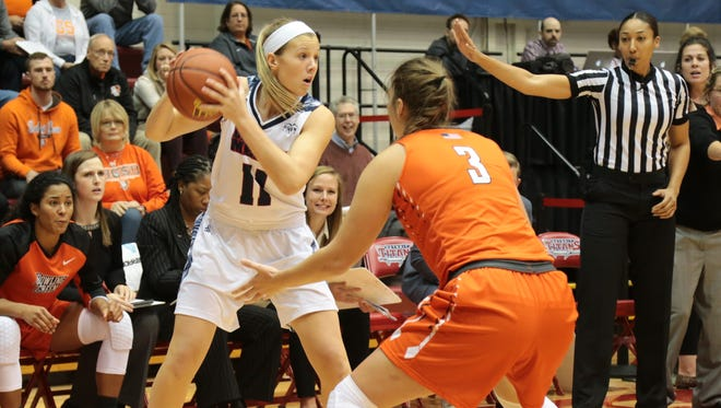 Hartland's Lexey Tobel had 16 points for the University of Detroit Mercy in an 85-81 loss to Bowling Green.