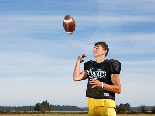 Cascade High School student Michael Biddington is a wide receiver for the school's football team.
