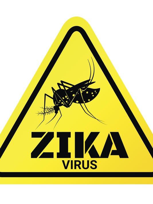 Warning sign of Zika virus with Mosquito