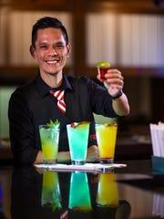 Three-time flair bartending champion, Jun Navarro,