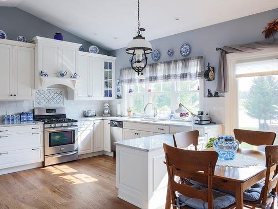 Tauschek's bright, open kitchen features a lower counter