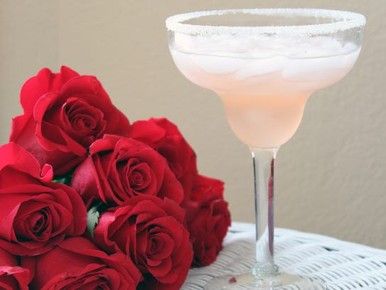 The Rose Margarita uses homemade rose syrup, which
