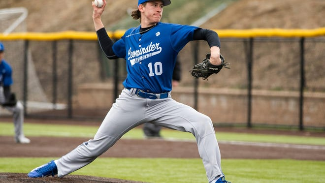 Former Leominster High star Patrick Gallagher returned to the mound he dominated on with the Blue Devils when Westfield faced Worcester on Wednesday, July 15.