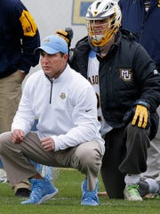 Marquette lacrosse coach Joe Amplo has been with the program since Day 1.