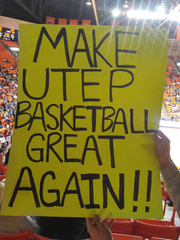 This sign is another one that Chris Ybarra and his friends held up during UTEP's game.