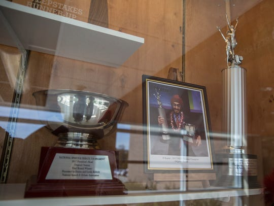 National speech and debate trophies won by Valley High