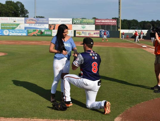 On Top Of The World Shorebirds Player Proposes To Girlfriend Before