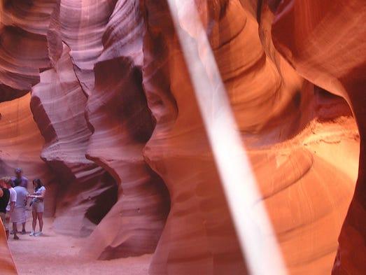 Antelope Canyon se encuentra ubicado en territorio