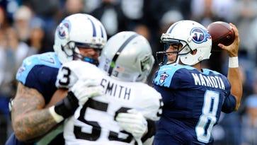 Titans' Marcus Mariota tops NFL in QB red-zone rating