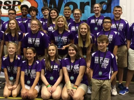 The Benton Middle School team captured first place