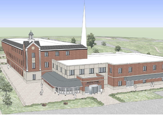 middletown new town hall birds eye rendering