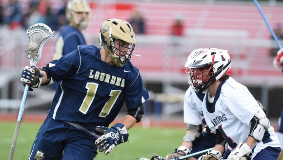 Action from Thursday's game between Lourdes and Wappingers.