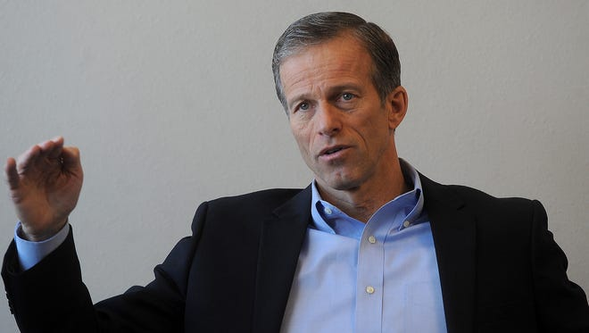 U.S. Senator John Thune talks with Argus Leader Media on Dec. 30.