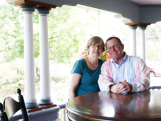 Bill and Nancy DeFrance on the front porch of their