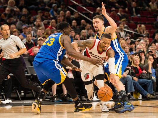 USP NBA: GOLDEN STATE WARRIORS AT PORTLAND TRAIL B S BKN USA OR