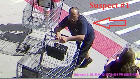 Police released this photo of a man suspected of taking goods from Shoprite