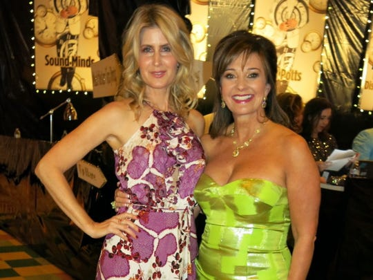 Christmas in the Sky Co-Chair Heidi Kallenberg and Chair Waynette Ballengee at the beginning of the gala.