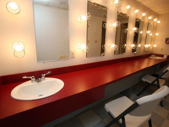The dressing room at Chappaqua PAC at Chappaqua Crossing,