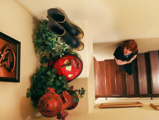 Cher LaBruzzo has decorated her home, including a space